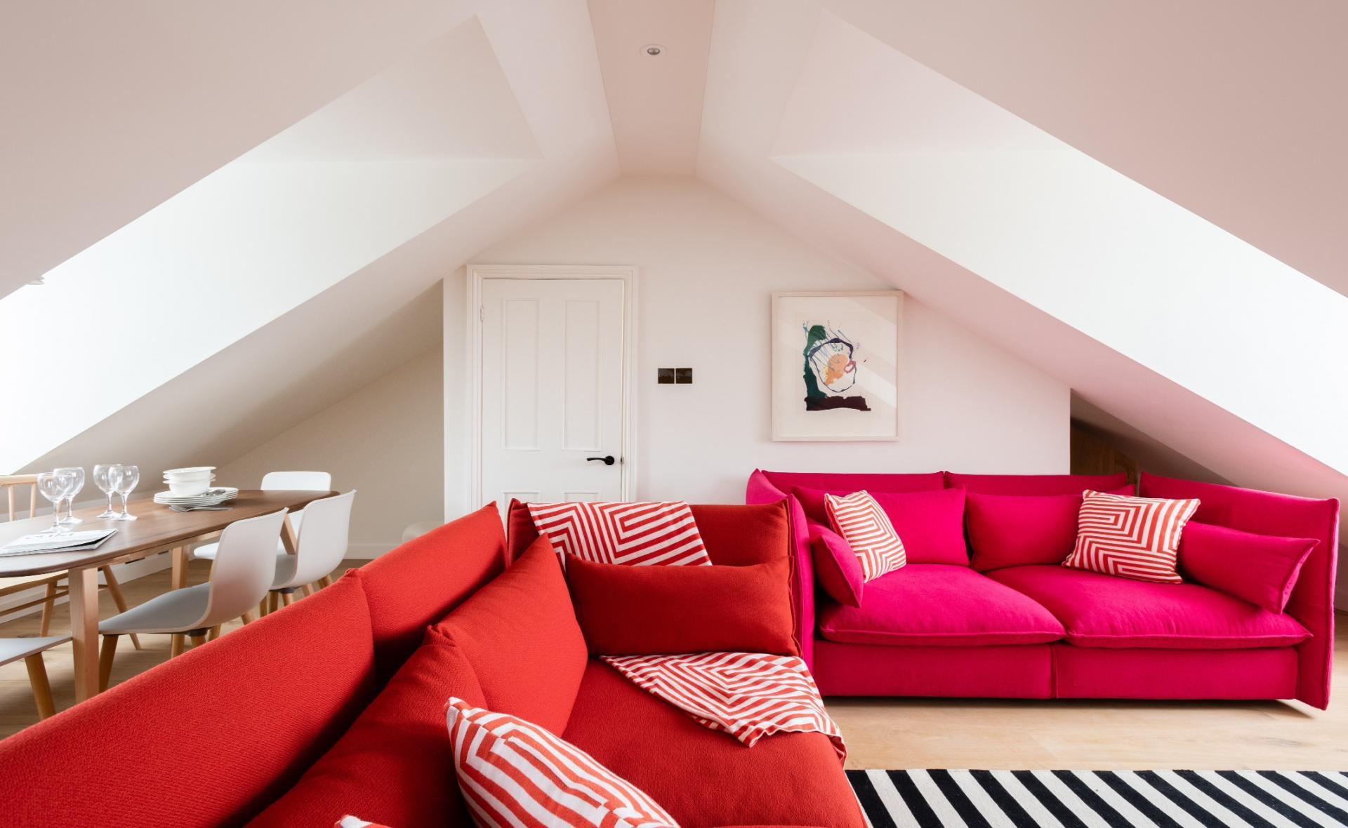 Living room at Lansdowne Crescent Apartment, Holland Park, London