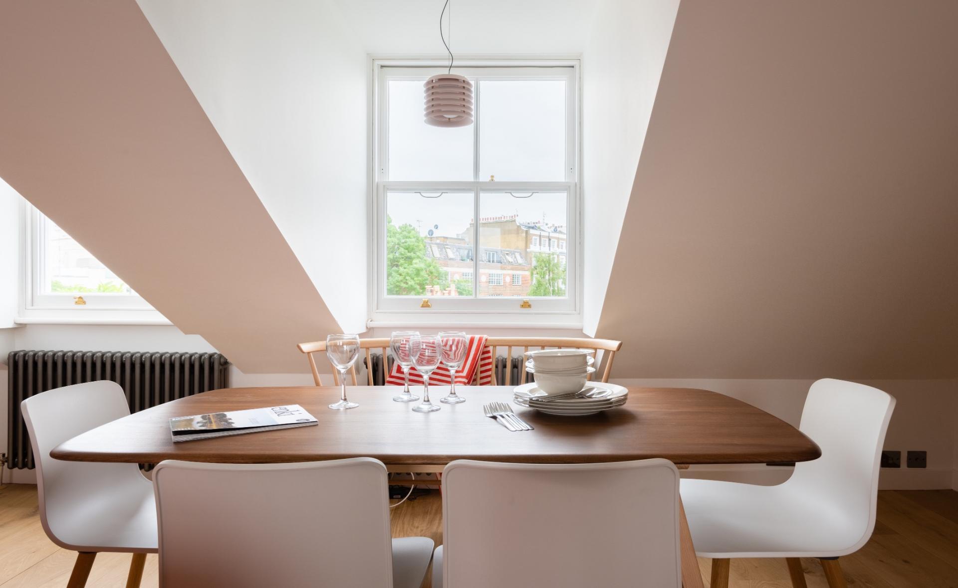 Window at Lansdowne Crescent Apartment, Holland Park, London