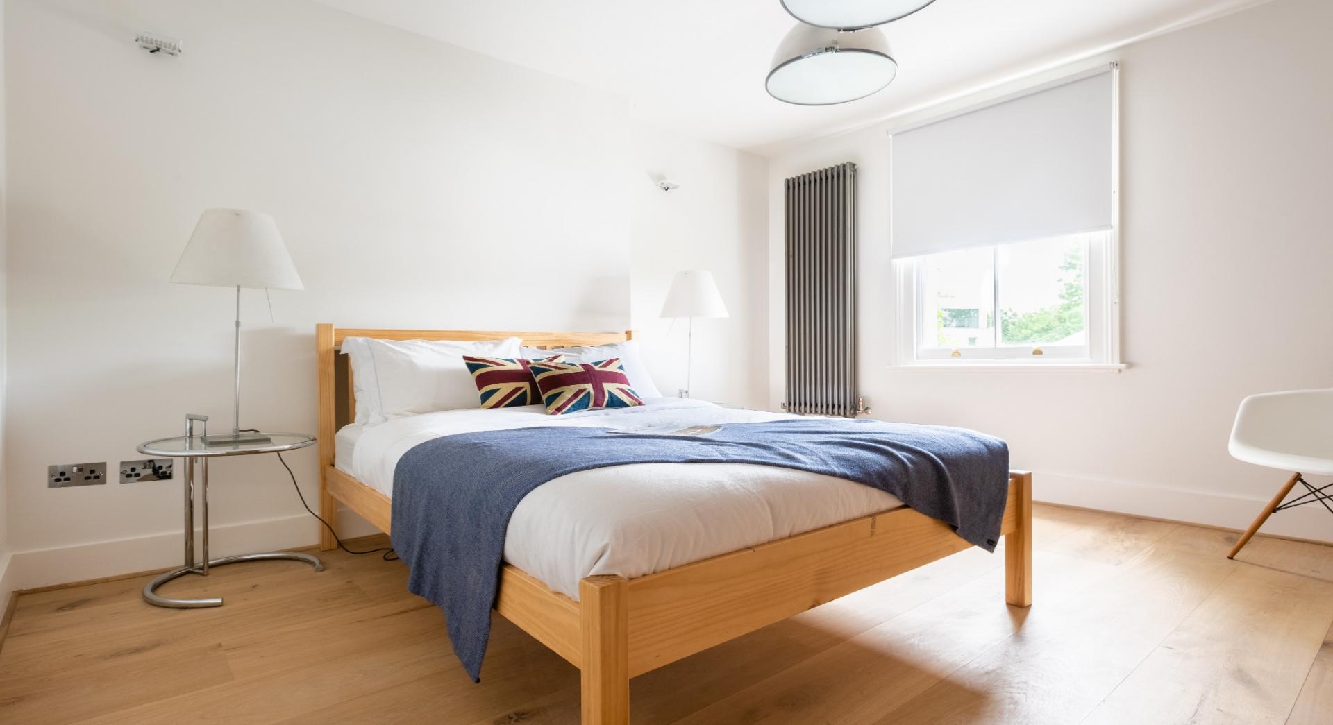 Bed at Lansdowne Crescent Apartment, Holland Park, London