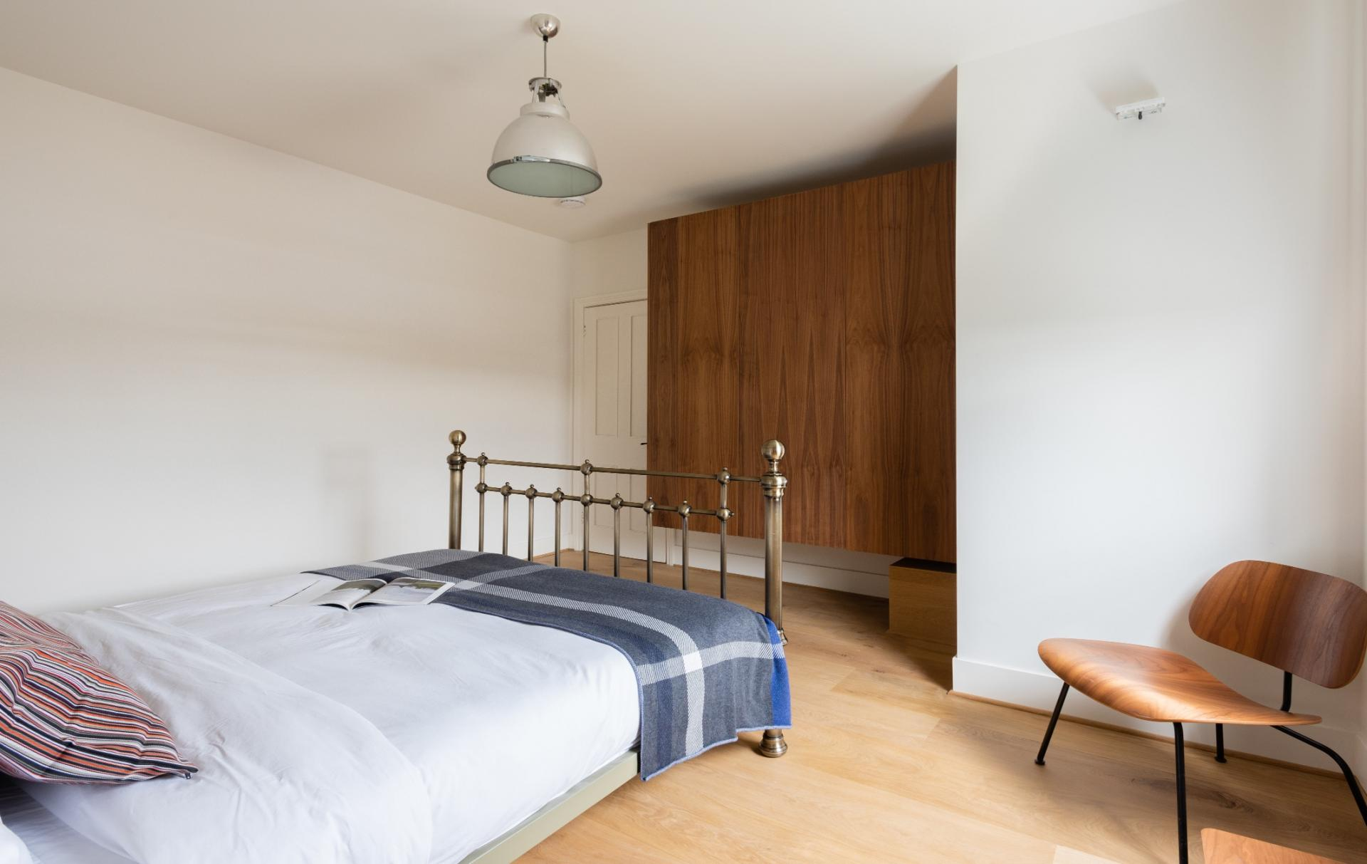 Bed spread at Lansdowne Crescent Apartment, Holland Park, London