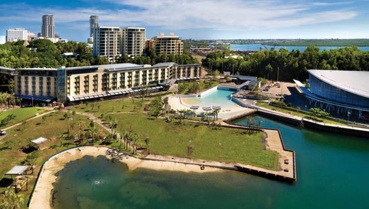 Stunning view from Adina Apartment Hotel Darwin Waterfront