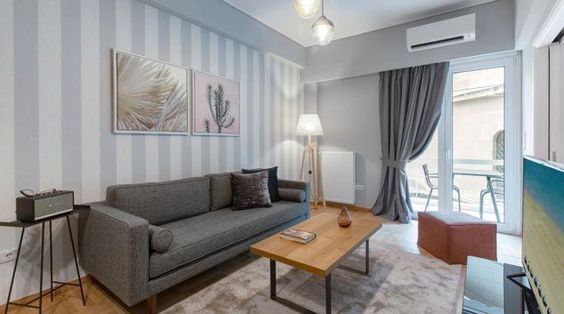 Living room at Tsakalof II Apartment, Centre, Athens