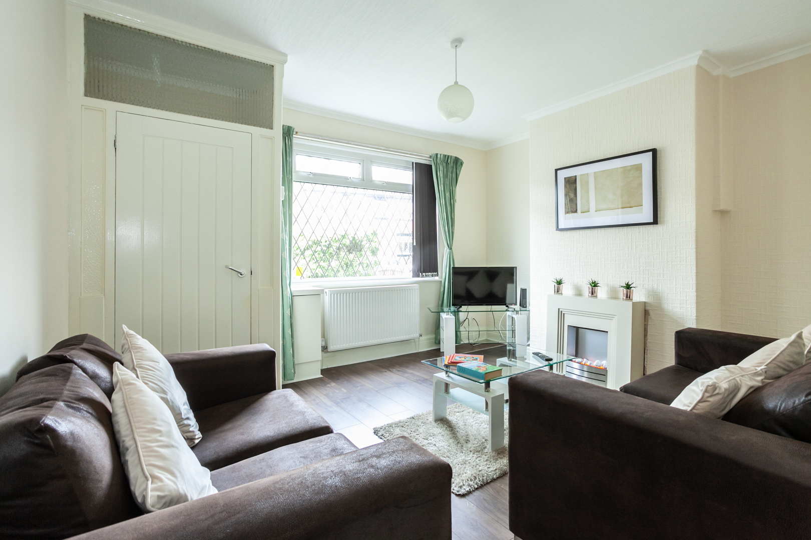 Open living area at St Pius House, Dunkinfield, Manchester