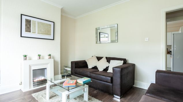 Living area at St Pius House, Dunkinfield, Manchester