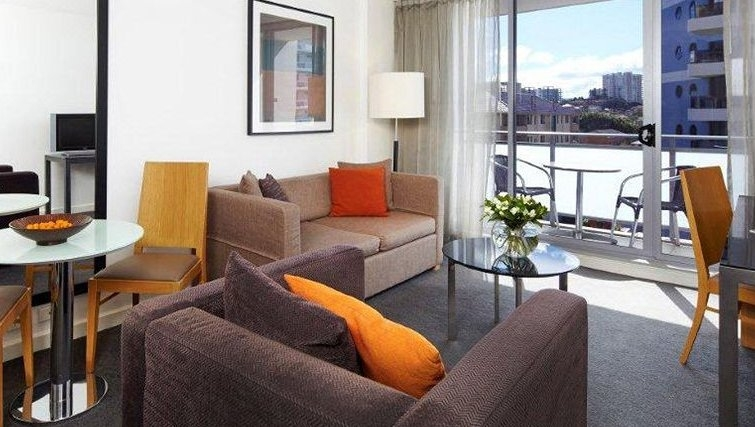 Smart living area in Adina Apartment Hotel Wollongong