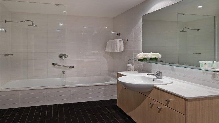 Elegant bathroom in Adina Apartment Hotel Perth, Barrack Plaza