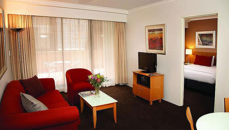 Living area in Medina Serviced Apartments Martin Place
