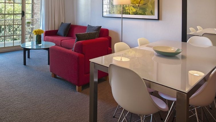 Spacious dining area in Medina Serviced Apartments Canberra Kingston