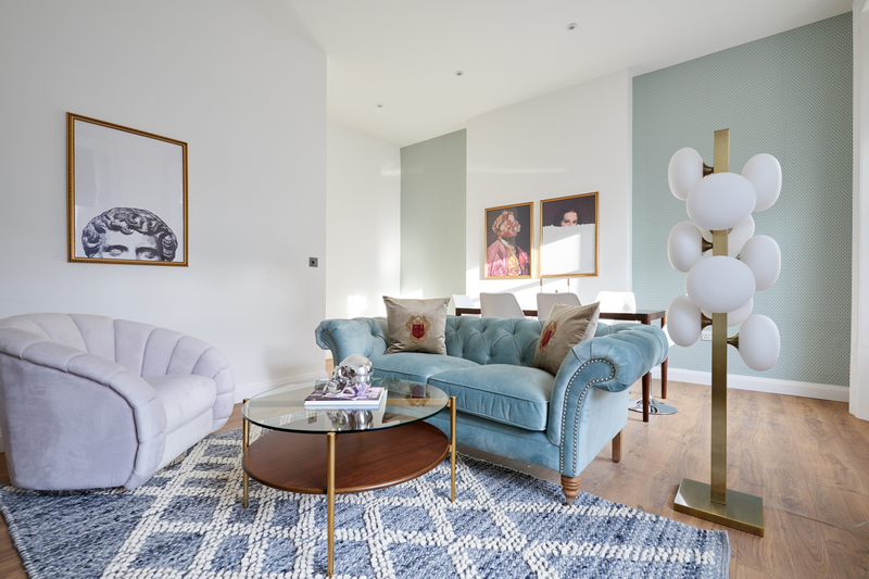 Living area at Inverness Mews, Bayswater, London