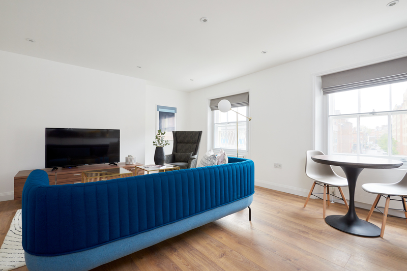 Dining area at Inverness Mews, Bayswater, London