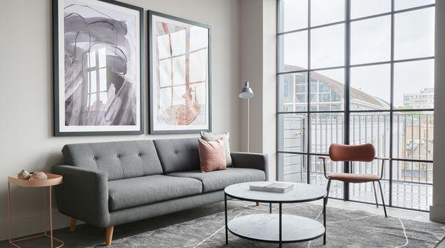 Living Area at Back Hill Apartments, Farringdon, London