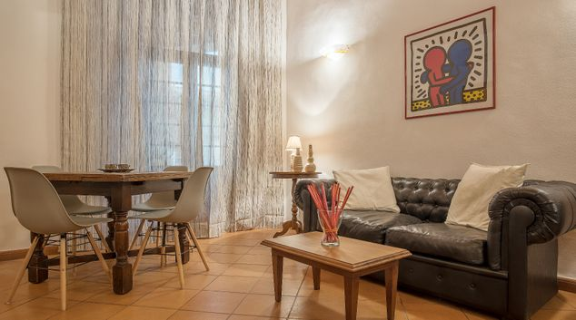Sofa at Wooden Shade Apartment, Municipio I, Rome
