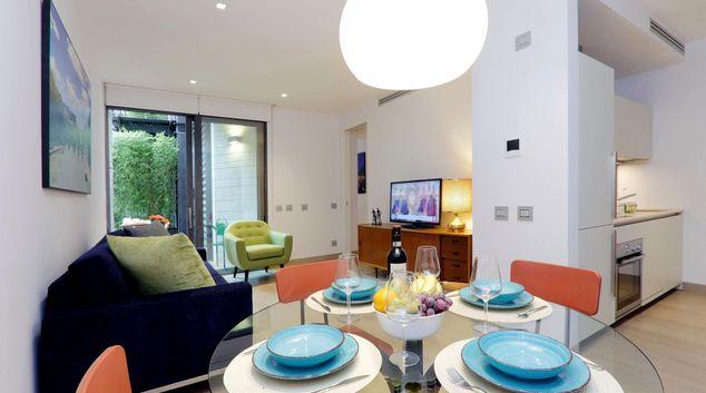 Living room at Urbana Terrace Apartment, Centre, Rome