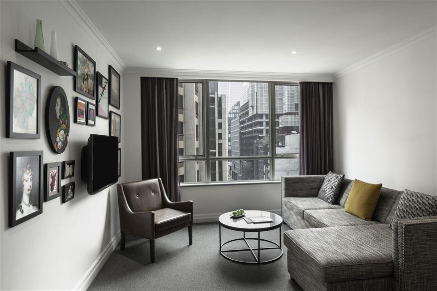 Large windows at Mantra 2 Bond Street, Centre, Sydney