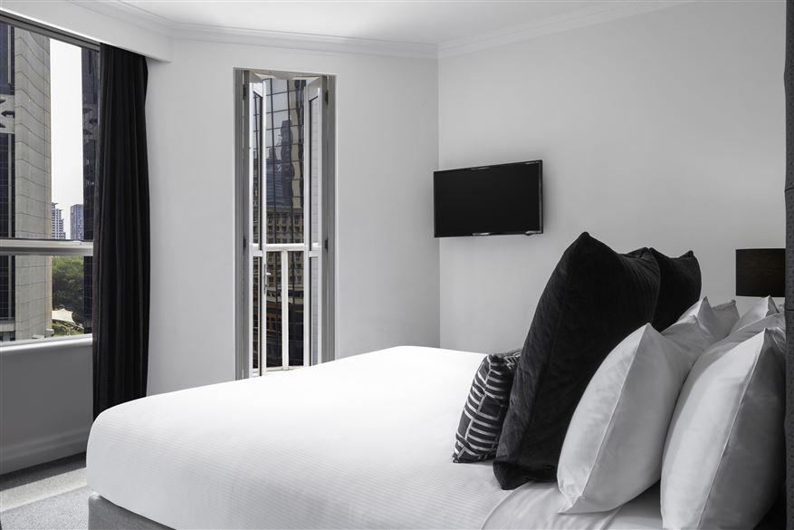 Bed at Mantra 2 Bond Street, Centre, Sydney