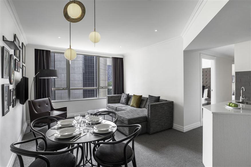 Dining area at Mantra 2 Bond Street, Centre, Sydney