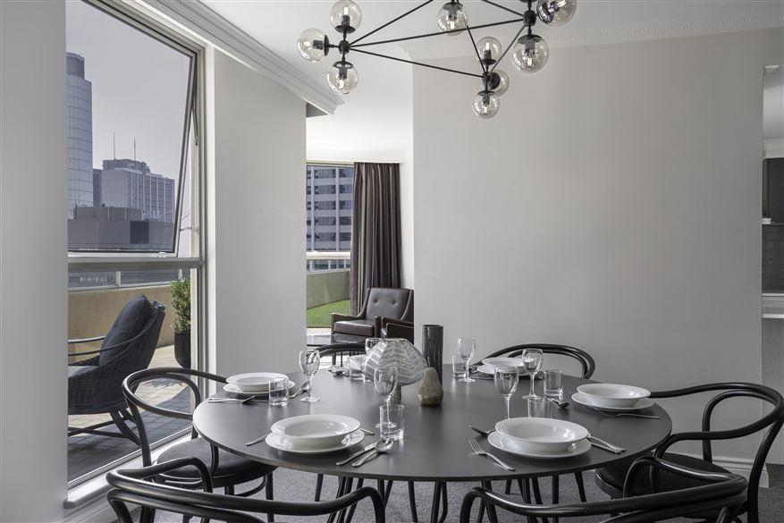 Dining table at Mantra 2 Bond Street, Centre, Sydney