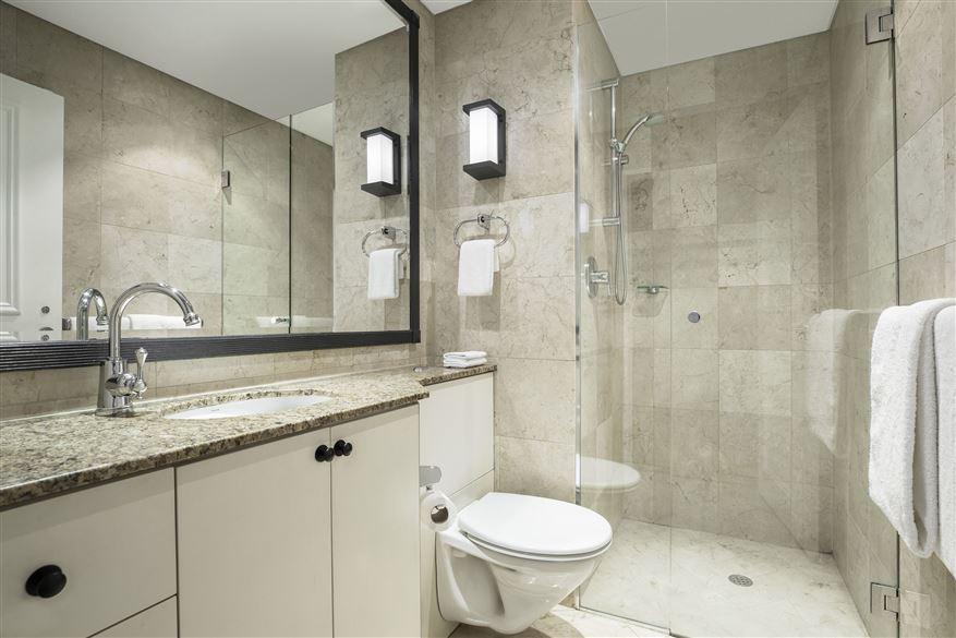 Bathroom at Mantra 2 Bond Street, Centre, Sydney