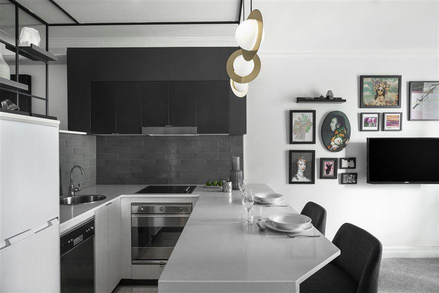 Modern kitchen at Mantra 2 Bond Street, Centre, Sydney