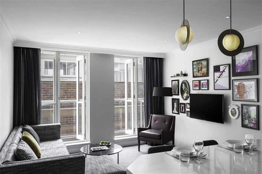 Bright living space at Mantra 2 Bond Street, Centre, Sydney