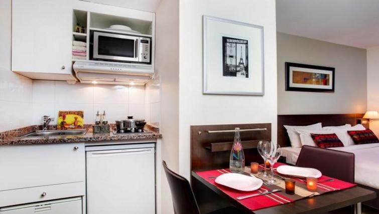 Open plan kitchen in Citadines La Defense Apartments
