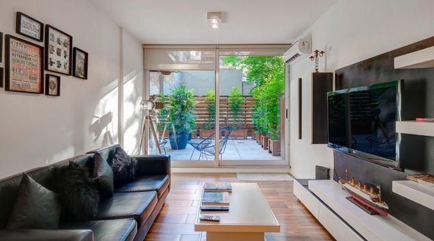 Living room at Soldado View Apartment, Belgrano, Buenos Aires