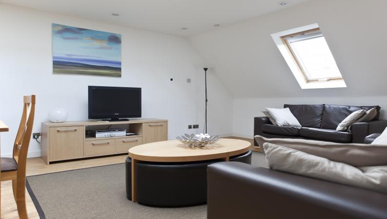 Living room at Canning Street Apartments