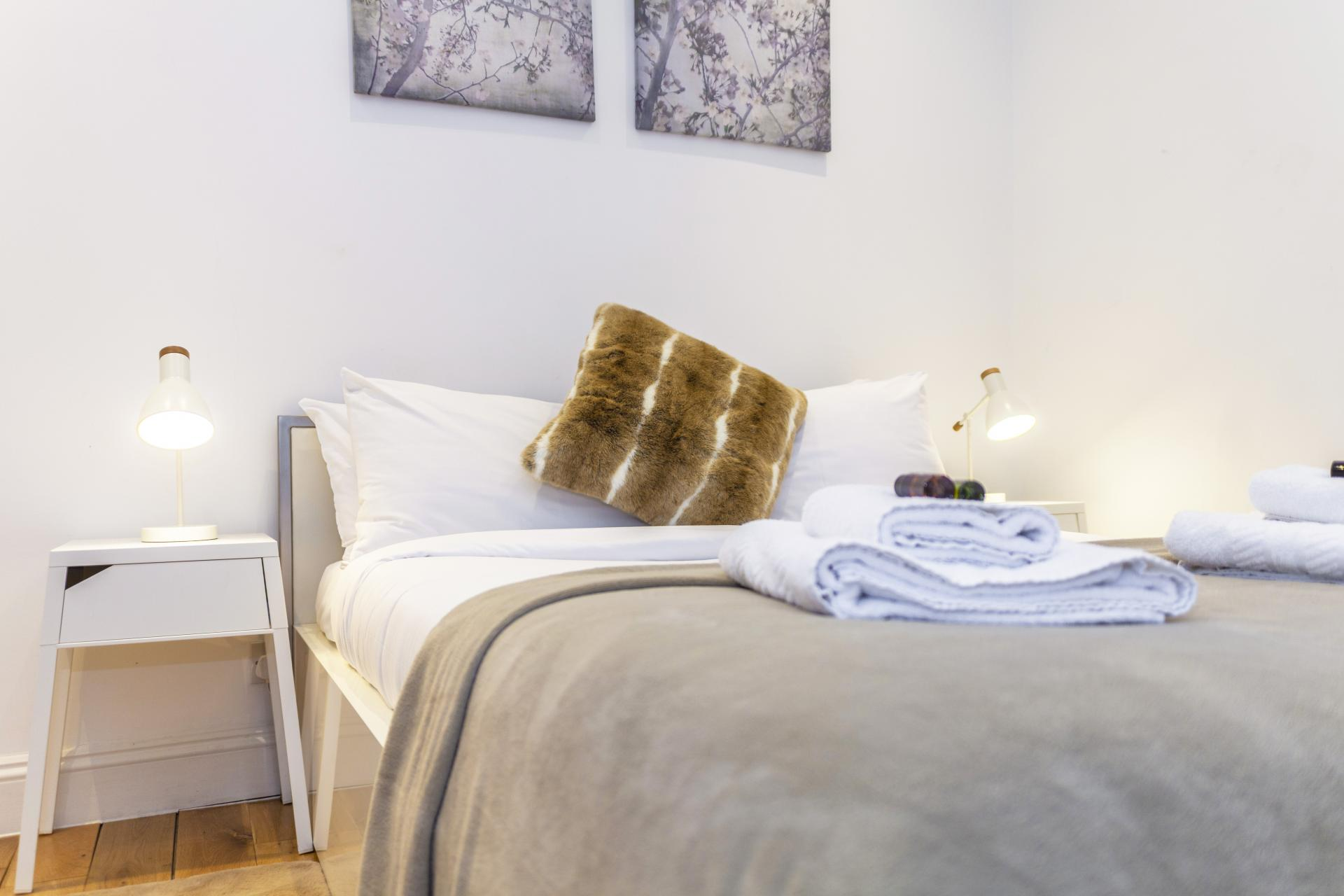 Bedroom at Devonshire Terrace Apartments, Bayswater, London