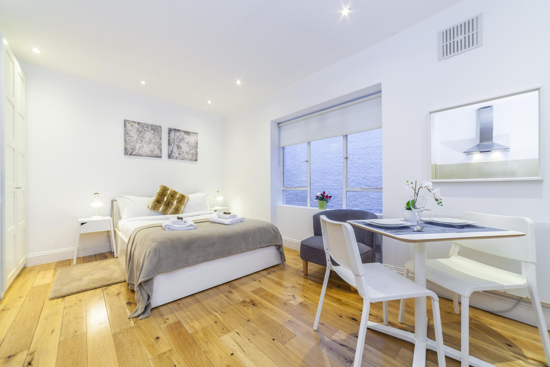 Open-plan at Devonshire Terrace Apartments, Bayswater, London
