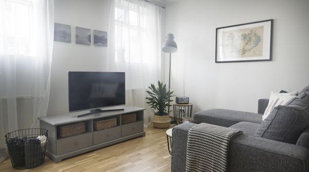 Lounge at Grundarstigur Apartment, Centre, Reykjavik
