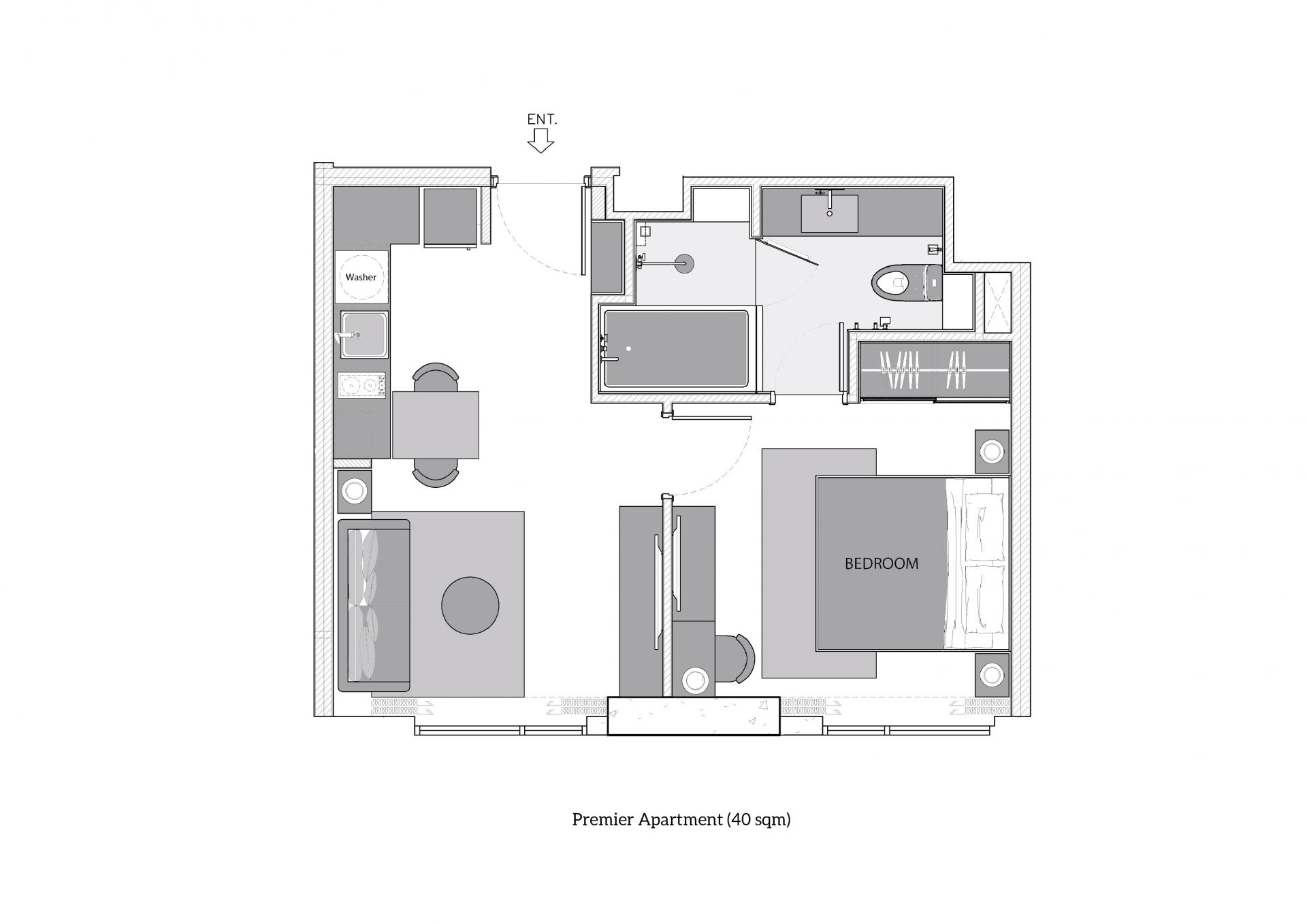 Premier Apartment at Oakwood Suites Bangkok, Khlong Tan, Bangkok