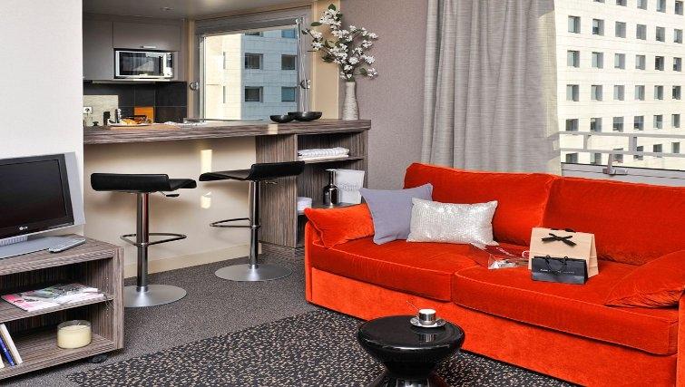 Colourful living area in Adagio Paris La Defense Esplanade
