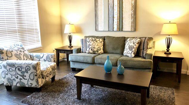 Living area at Park Avenue Lofts, Plaza Terrace, Little Rock