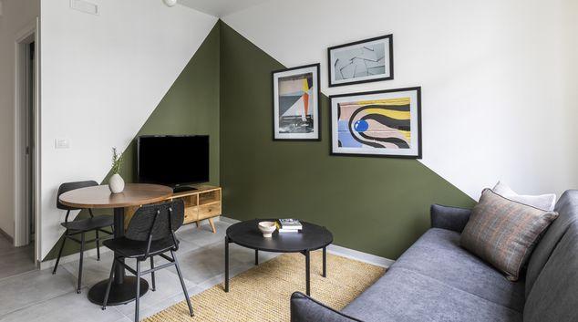 Living room at San Lorenzo Apartments, San Lorenzo, Rome