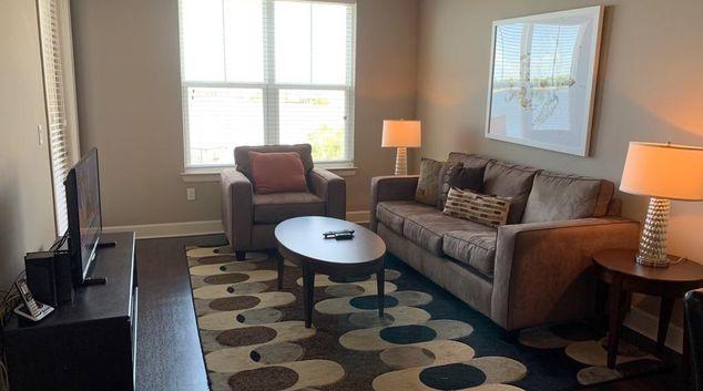 Living Room at Lake Vue by Mainsail