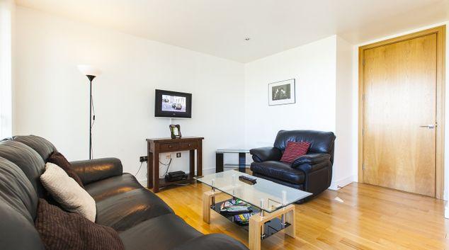 Living room at Grande Central Apartment, Sandyford, Dublin