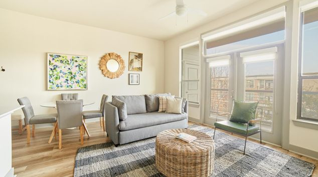 Living area at Reverchon Park, Oak Lawn, Dallas