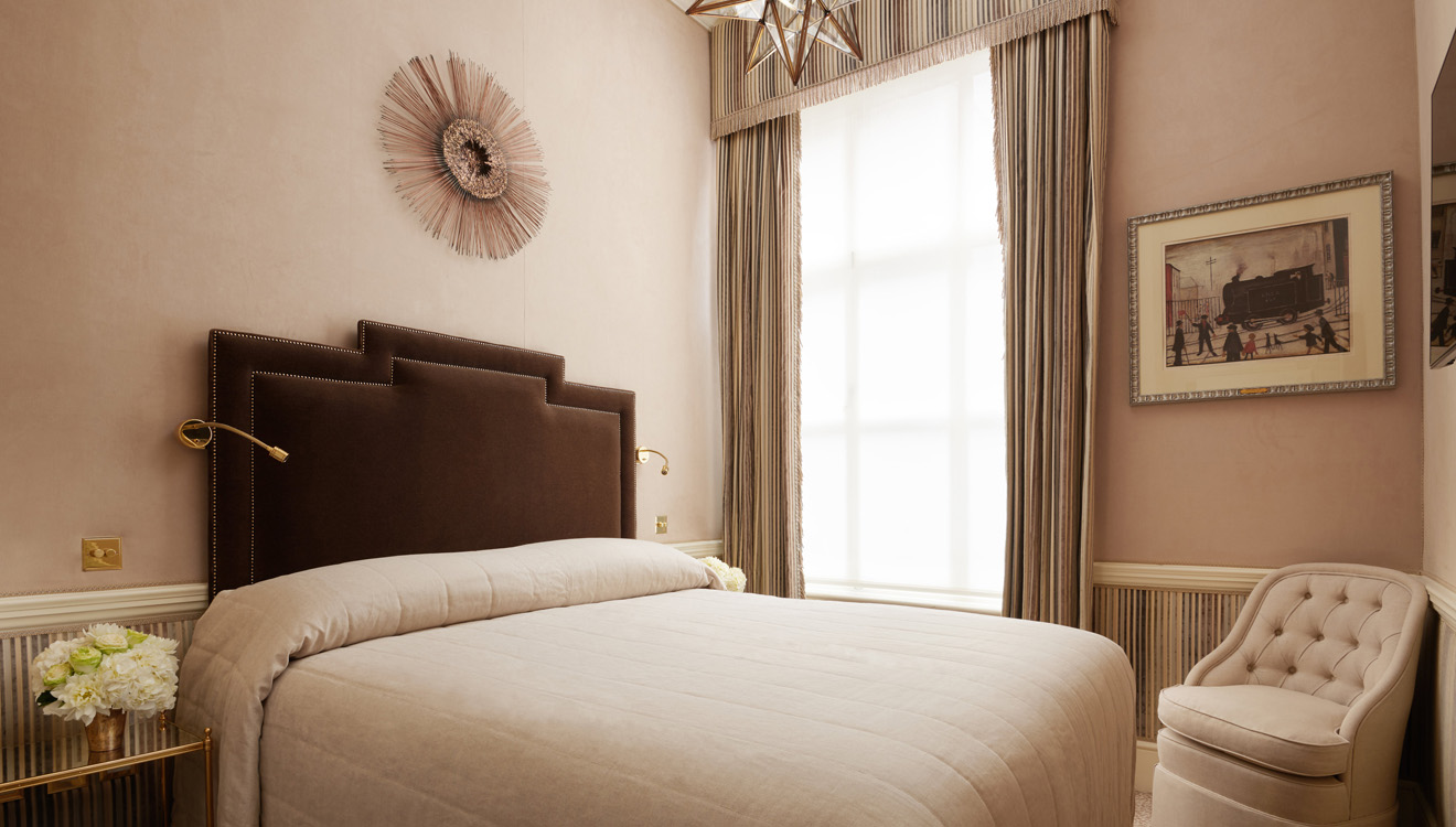 Double bedroom at Milestone Apartments