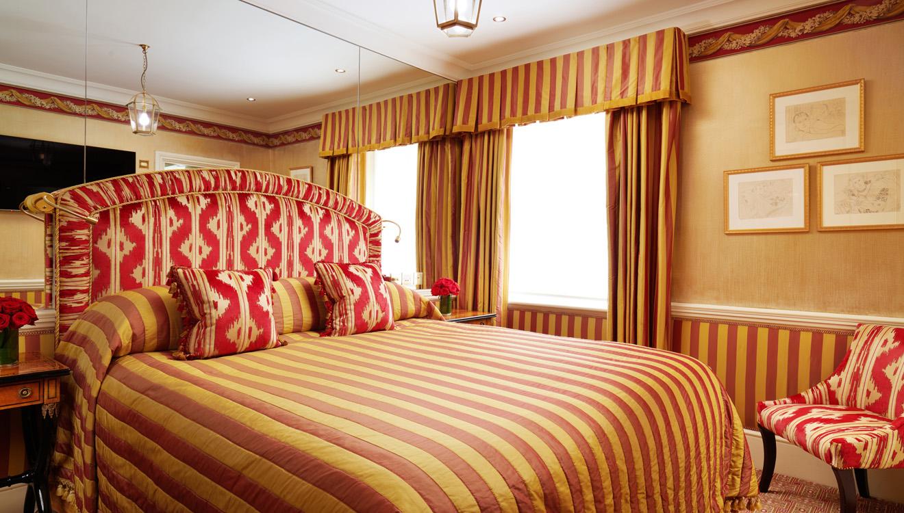 Luxury bedroom at Milestone Apartments