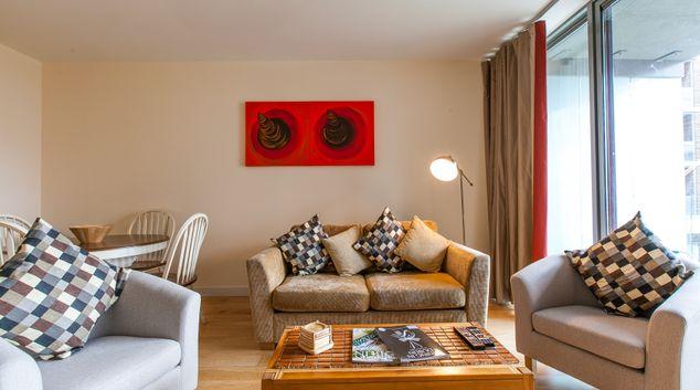Living room at The Forum Sandyford Apartment, Sandyford, Dublin