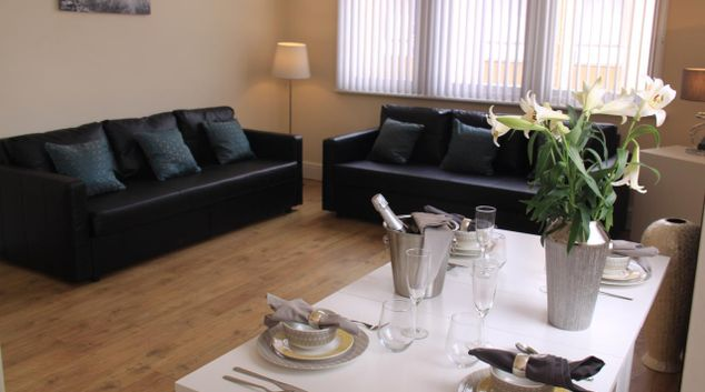 Lounge at St Peters Chambers Apartments, Centre, Stockport