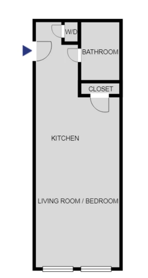 Floor plan at 24 Franklin Street, Hayes Valley, San Francisco
