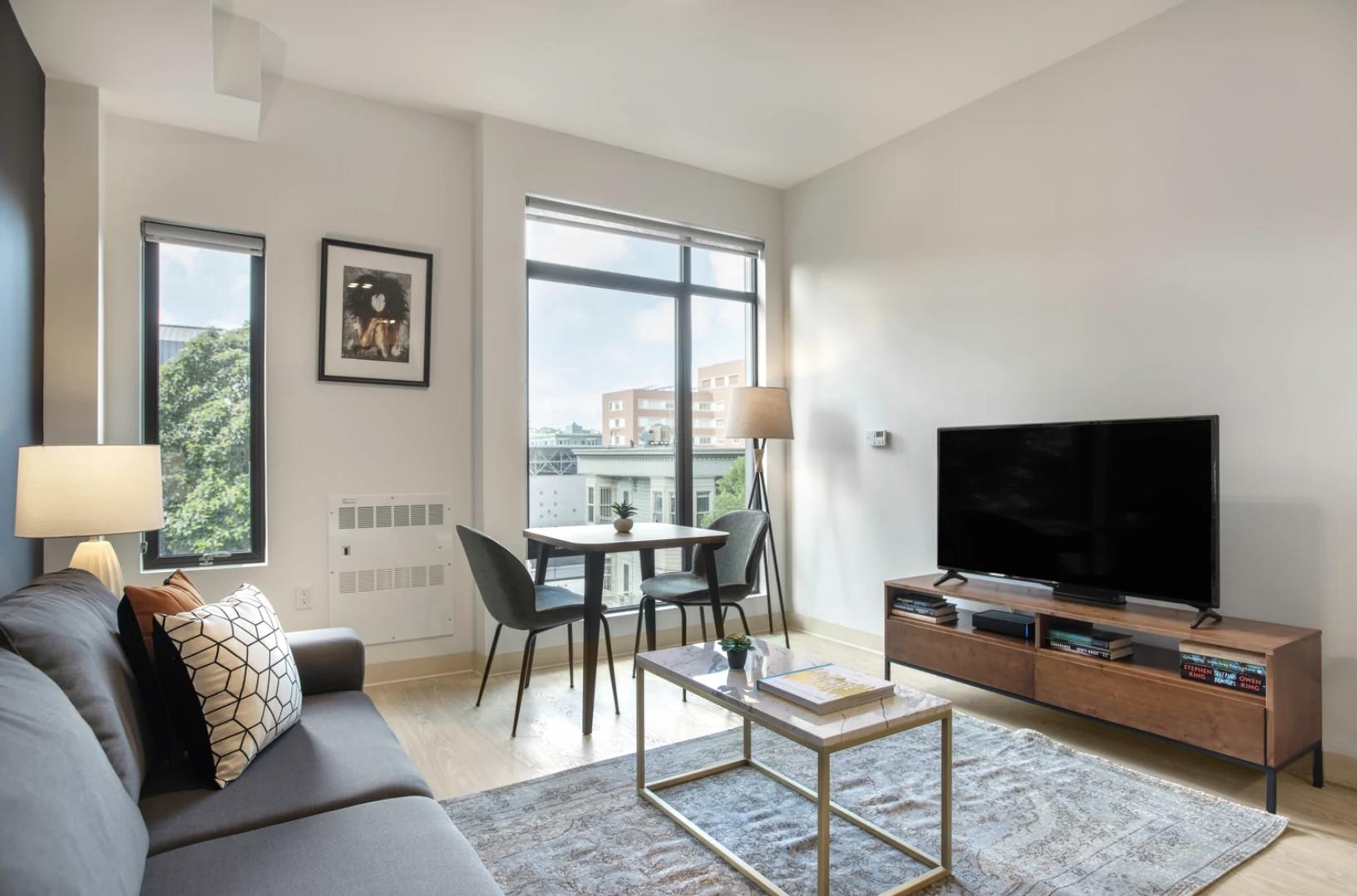 Living Room at 24 Franklin Street