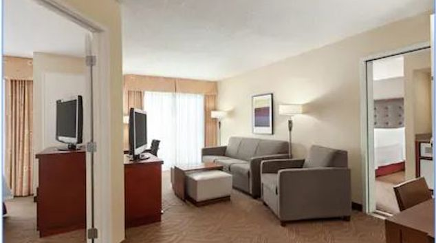 Living Room at Homewood Suites by Hilton Oakland-Waterfront