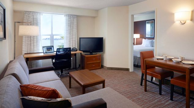 Open Plan Living Room at Residence Inn By Marriott San Francisco Airport