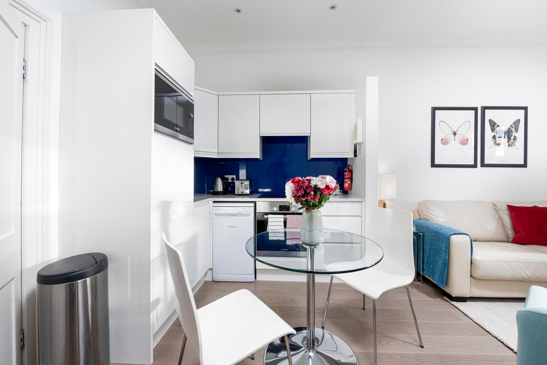 Dining area at Draycott Place Serviced Apartments, Chelsea, London