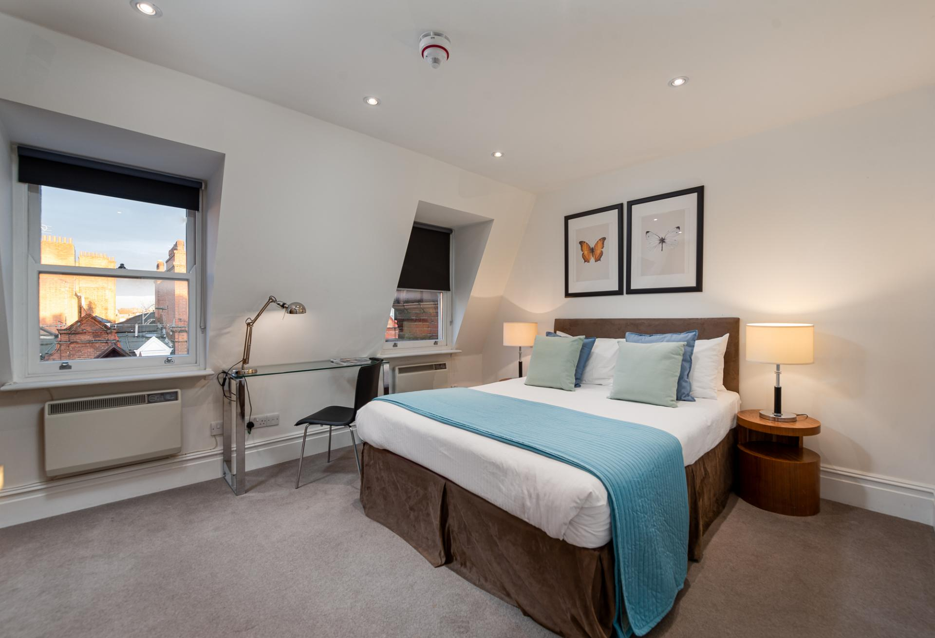 Bedroom at Draycott Place Serviced Apartments, Chelsea, London