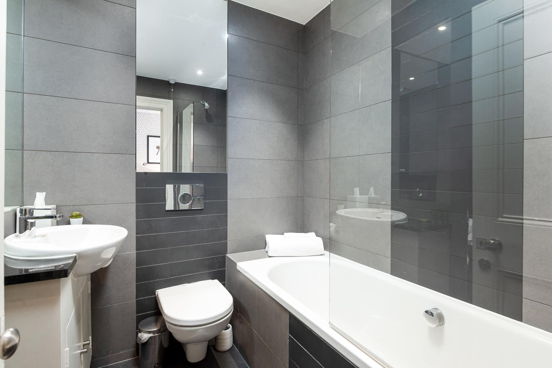 Bathroom at Draycott Place Serviced Apartments, Chelsea, London