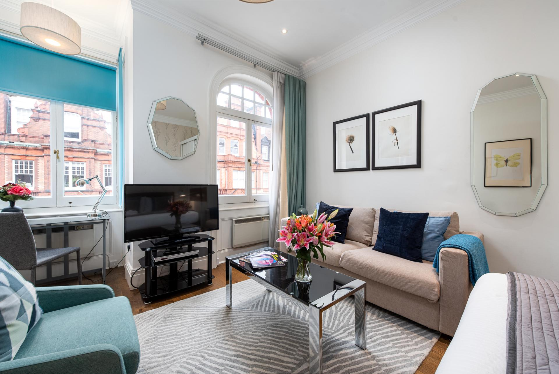 TV at Draycott Place Serviced Apartments, Chelsea, London