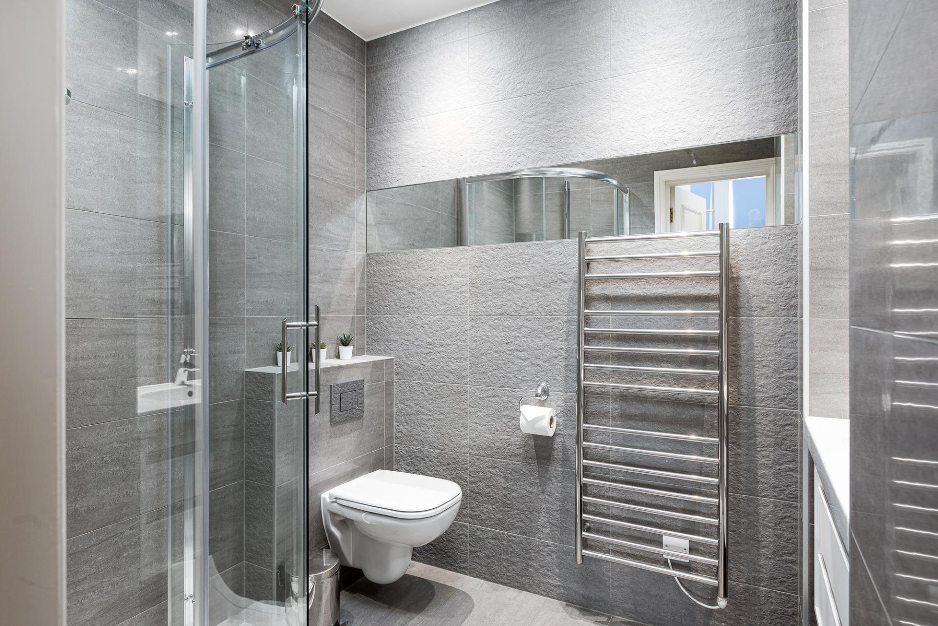Shower at Draycott Place Serviced Apartments, Chelsea, London